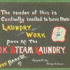 Folk Art Burlington, VT. Laundry Sign