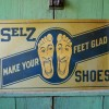 Double Sided Graphic SELZ SHOES Sign