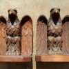 Folk Art Eagle Bookends